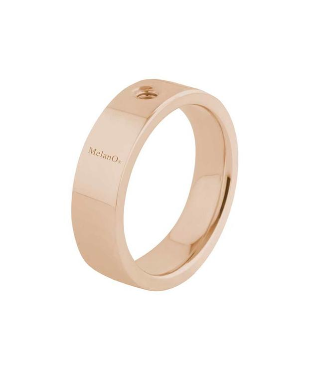 MelanO Twisted ring Tatum, rosegold, breed