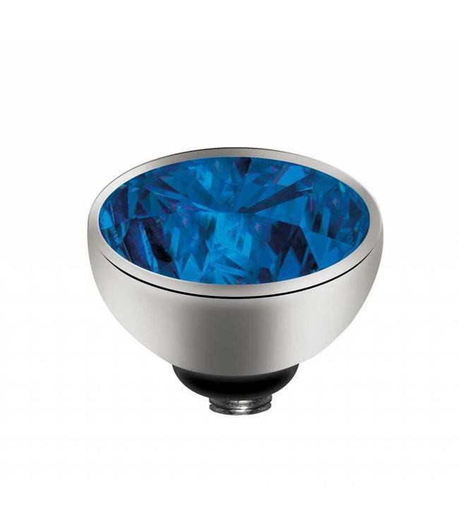 MelanO Twisted CZ setting, SS, Blue