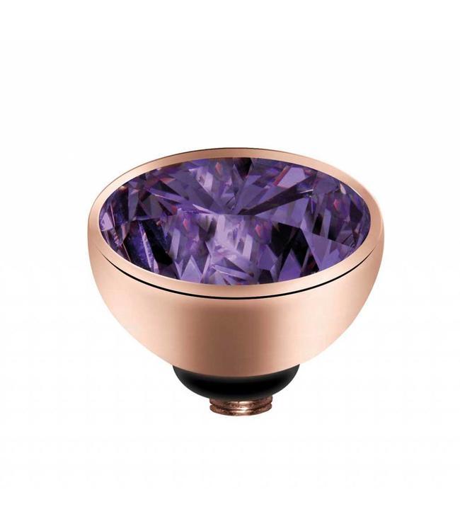MelanO Twisted CZ setting, RG, Purple