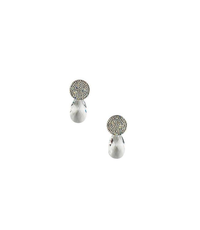 Inge Accessori Oorbel Swarovski Drop Silver