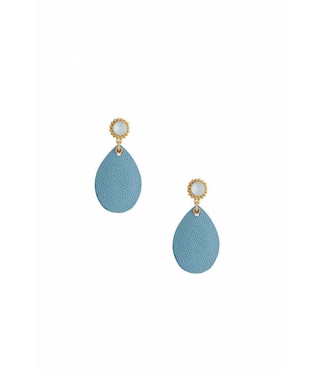 Inge Accessori Oorbel Blue Lotus
