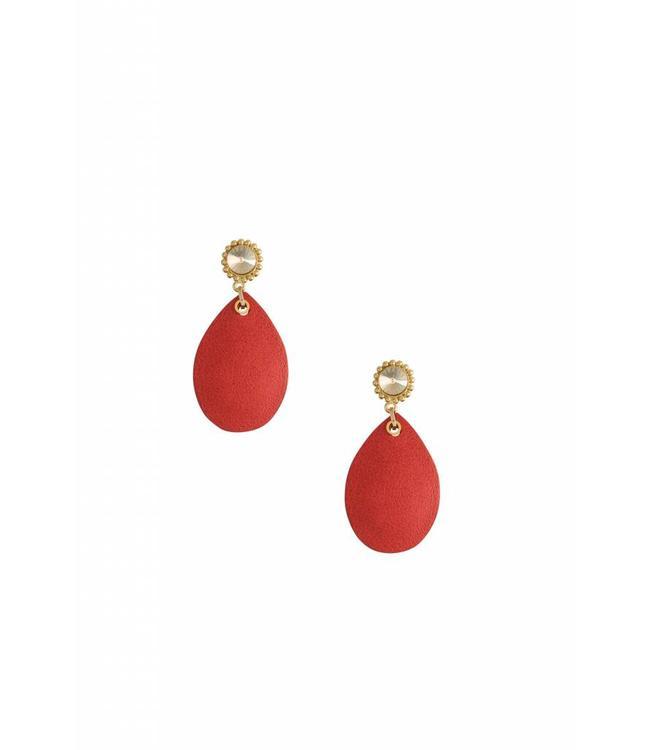 Inge Accessori Oorbel Red Lotus