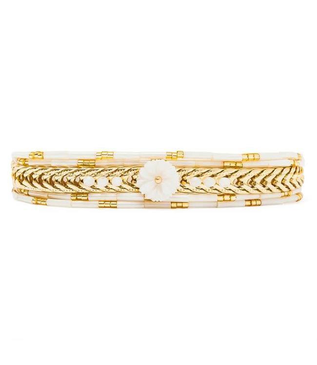 Hipanema Armband Edonis white