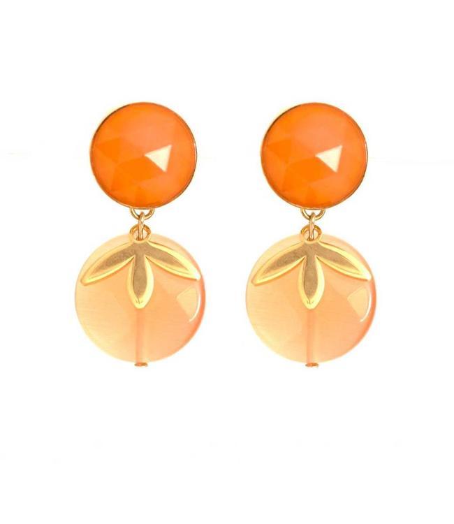 Souvenirs de Pomme Oorbel Exclusive Lily Orange