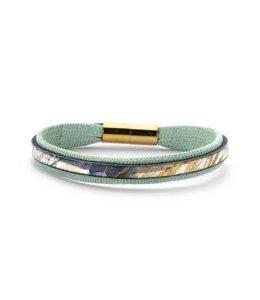 Souvenirs de Pomme Armband enkel leder mint gold