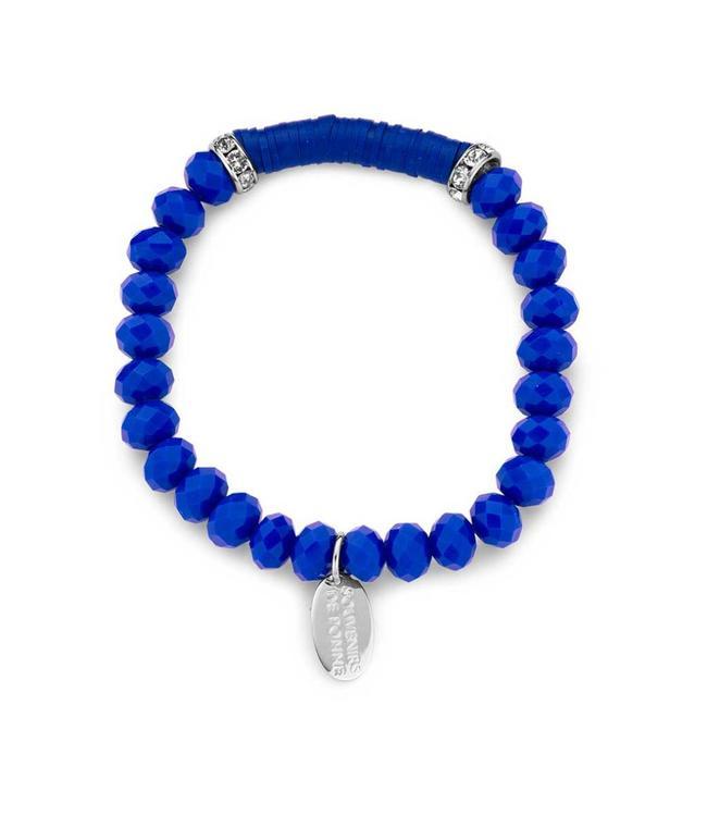 Souvenirs de Pomme Armband Crystal Large Royal Blue