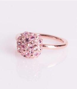 Phantasya Ring Crystal Square Pink