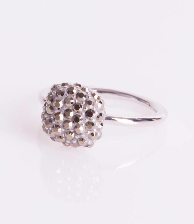 Phantasya Ring Crystal Square Grey
