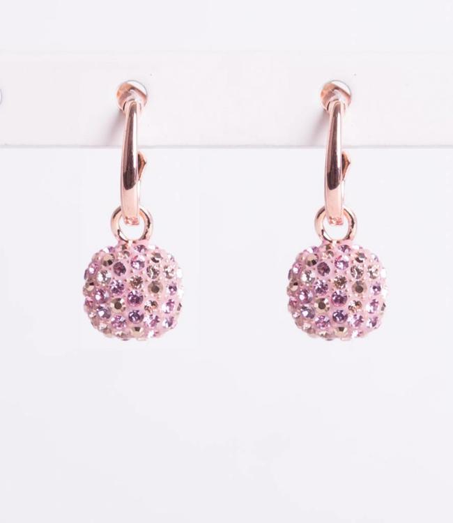 Phantasya Oorbel Crystal Hook Pink