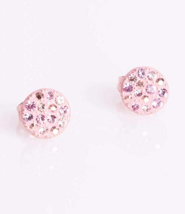 Phantasya Oorbel Crystal Sphere Stud Pink