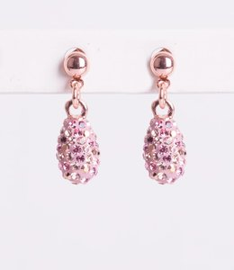Phantasya Oorbel Drop Short Crystal Pink