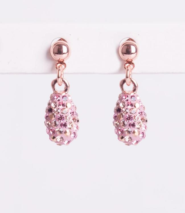 Phantasya Oorbel Drop Short Crystal Pink