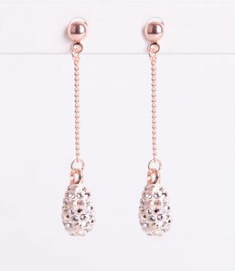 Phantasya Oorbel Crystal Drop Stud Gold