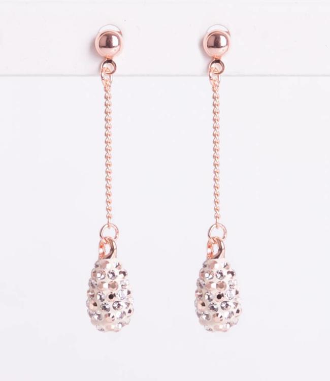 Phantasya Oorbel Crystal Drop Stud Gold