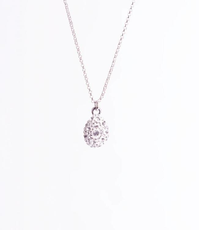 Phantasya Halsketting Crystal Drop White