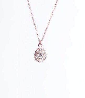 Phantasya Halsketting Crystal Drop Rosegold
