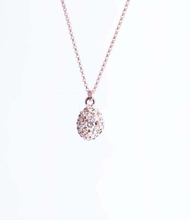 Phantasya Halsketting Crystal Drop Rosegold