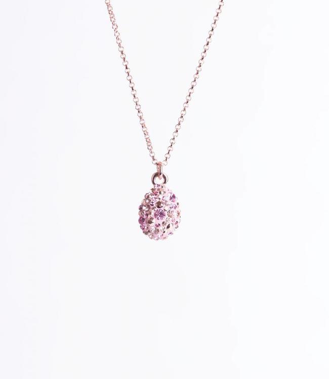 Phantasya Halsketting Crystal Drop Pink