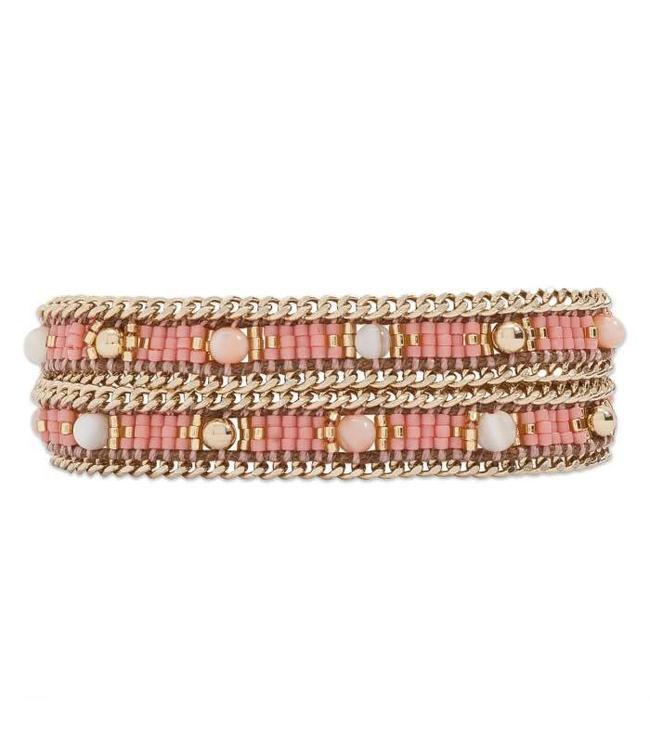 Hipanema Armband Amalia pink