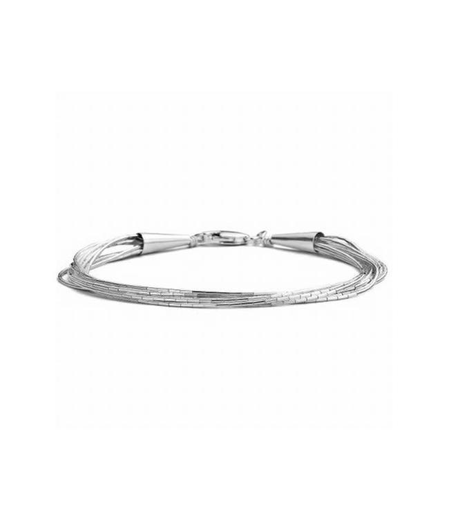 CASA Collection Armband SPAGHETTI SILVER