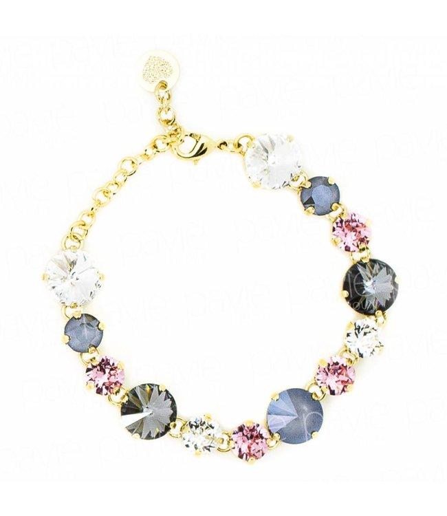 Paviè Armband Crystal Colors