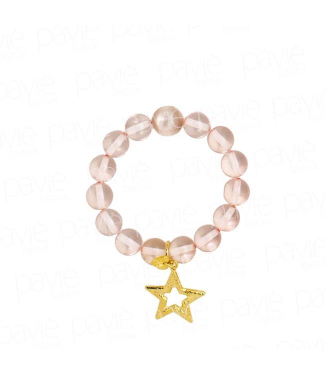 Paviè Armband Pink Star
