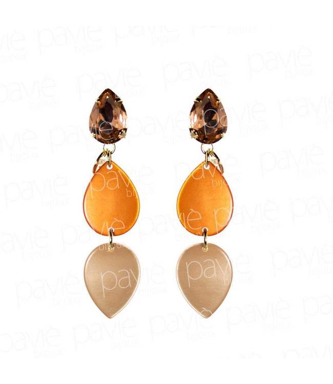 Paviè Oorbel Orange Drops