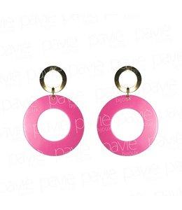 Paviè Oorbel Pink Circles