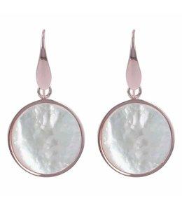 Bronzallure Oorbel Pearl Disc