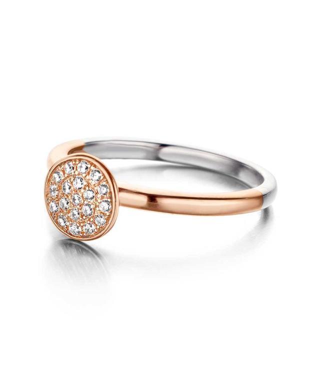 Silver Rose Ring Duo Rose