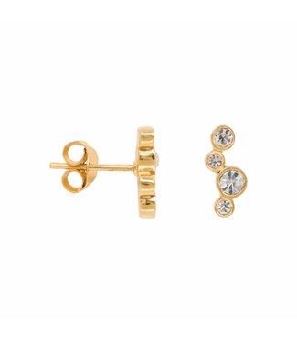 Eline Rosina Oorbel Twinkle crystal zirconia goud
