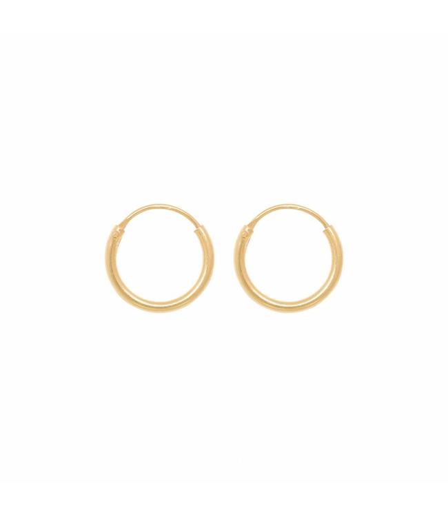 Eline Rosina Oorbel Tiny hoops goud
