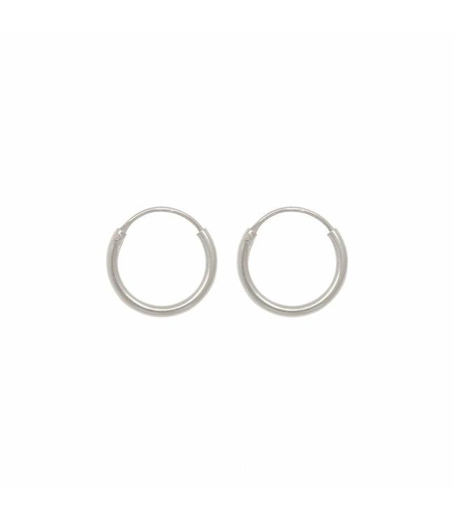 Eline Rosina Oorbel Tiny hoops zilver