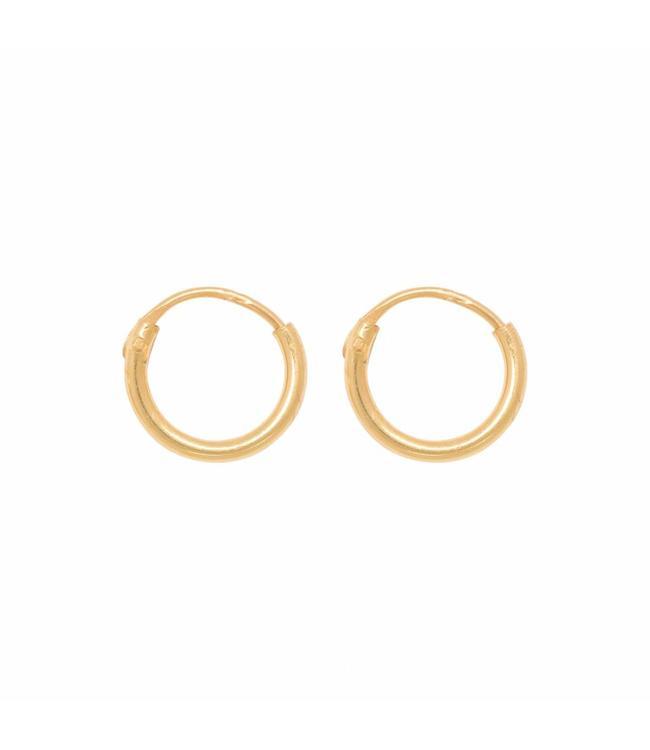 Eline Rosina Oorbel Tiny hoops goud (8mm)