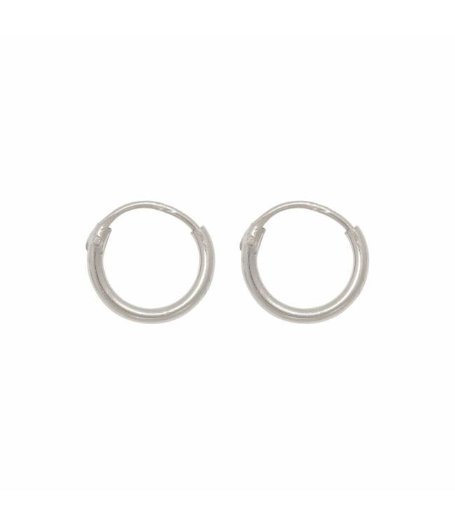 Eline Rosina Oorbel Tiny hoops zilver (8mm)