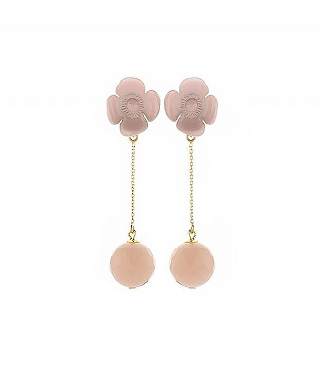 Souvenirs de Pomme Oorbel Bloom Long Pink