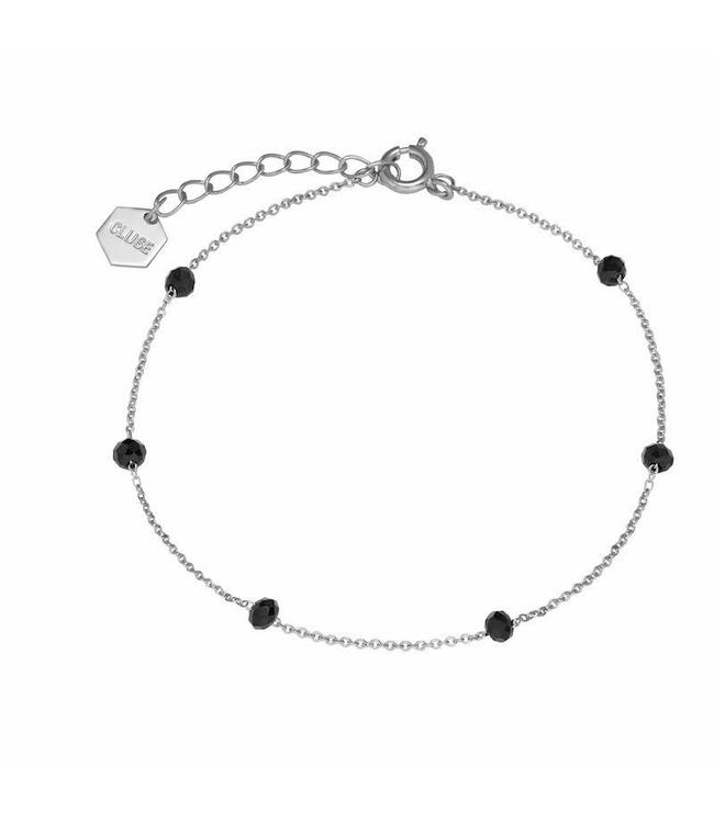 Cluse Armband Silver ​Black Crystals Chain ​