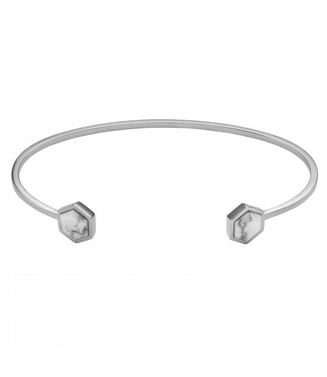 Cluse Armband Open Cuff Hexagon Silver