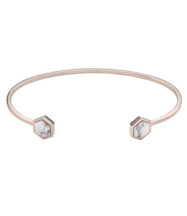 Cluse Armband Open Cuff Hexagon Rosegold