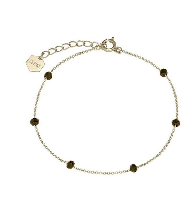 Cluse Armband Gold Black Crystals Chain 