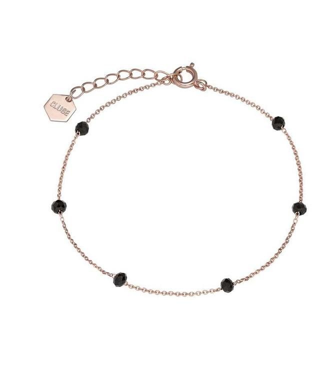 Cluse Armband Rosegold Black Crystals Chain 