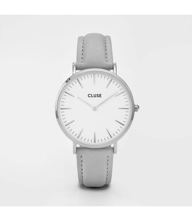 Cluse Uurwerk La Bohème silver white/grey
