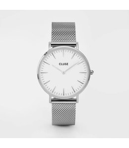 Cluse Uurwerk La Bohème mesh silver/white
