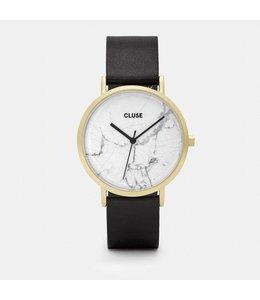 Cluse Uurwerk La Roche gold white marble/black