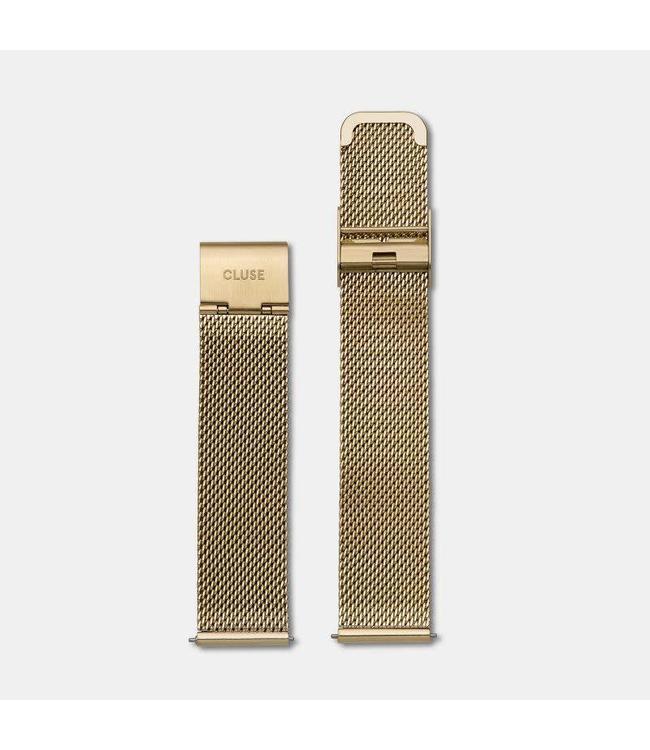 Cluse Uurwerkbandje La Bohème mesh strap mesh gold