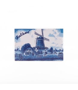 Siertegel 15 x 10 cm Delftsblauw Holland