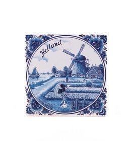 Siertegel 15 x 25 cm delftsblauw Holland