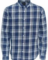 Only & Sons overhemd Onsnesbit Ls Checked Real Indt - Medium Blue Denim