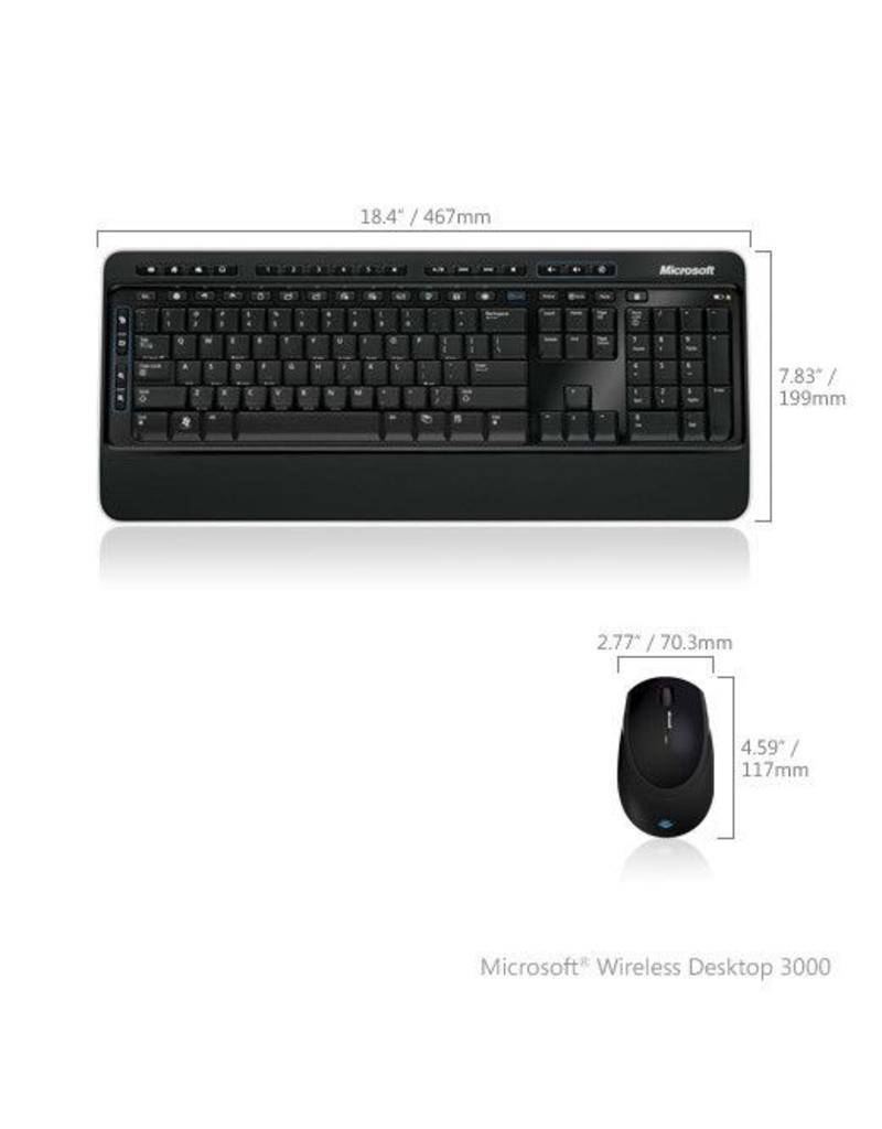Microsoft Microsoft Wireless 3000 Draadloos muis en toetsenbord