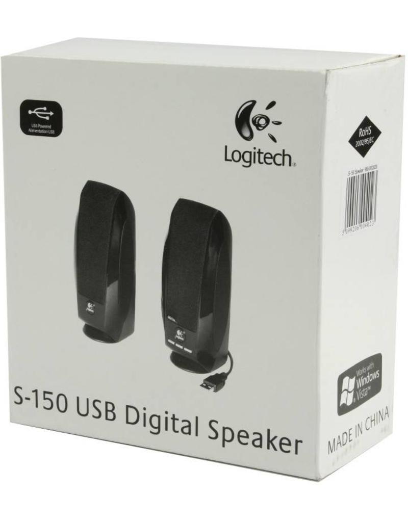 Logitech Logitech S150 speakerset werkend op alleen USB. dus geen geluidskaart nodig.